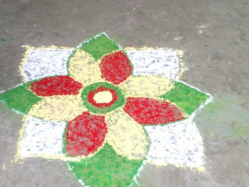 Rangoli in Holi Happy Holi! : The Village Tour