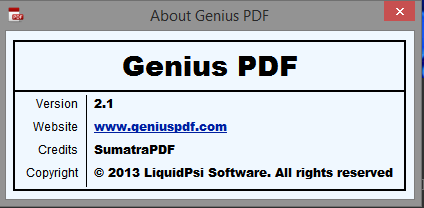 about genius pdf windows tech