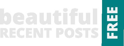 Beautiful Recent Posts Widget