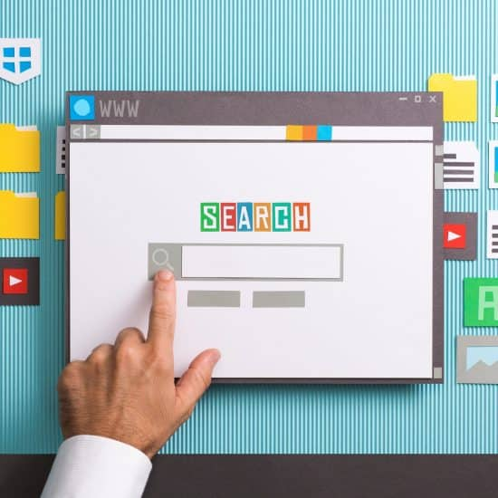 Search engine home page