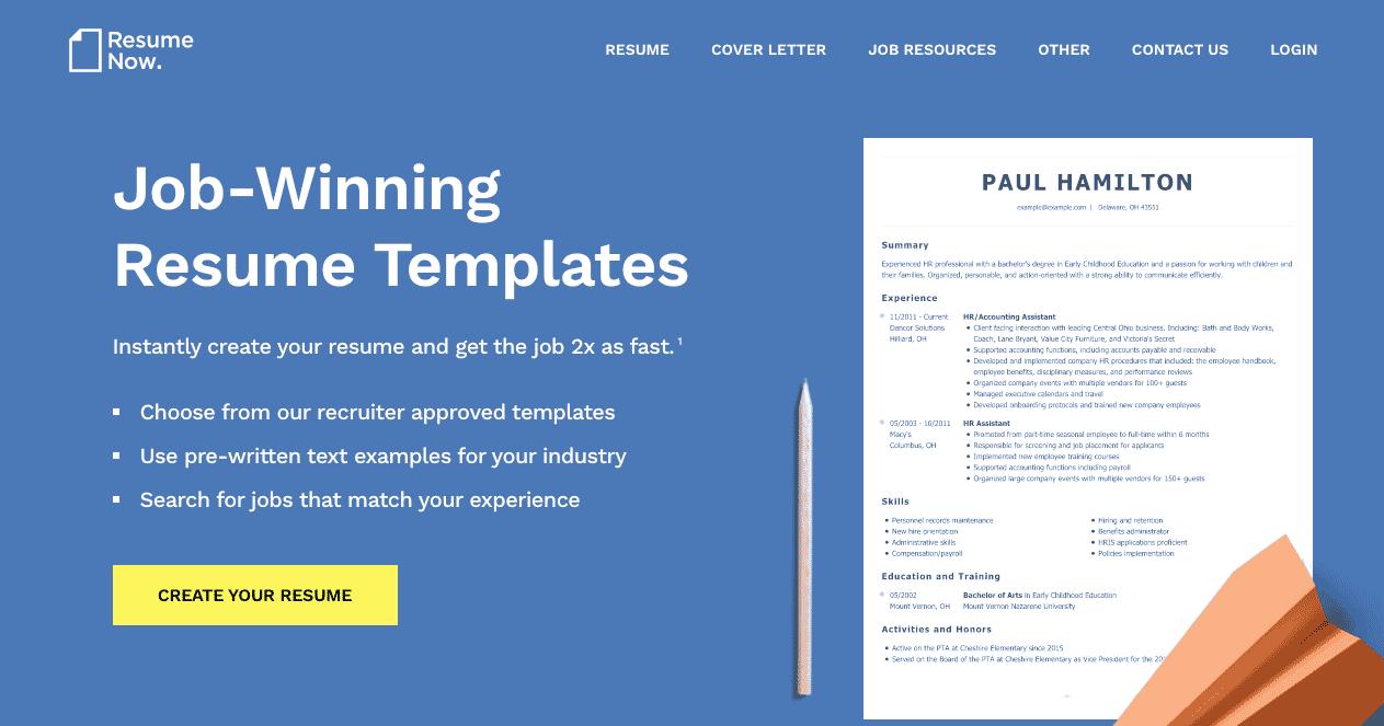 resume now website