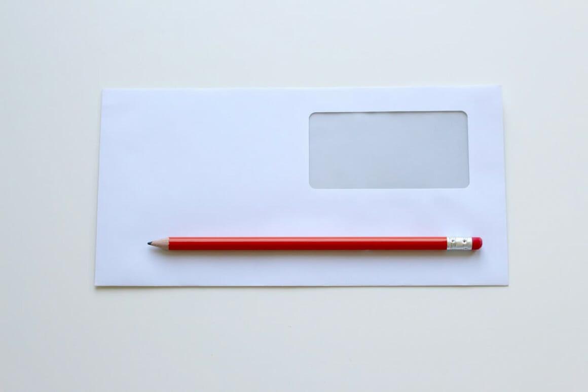Envelope, pencil, office, payment, credit, debt problems