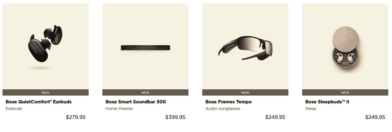 Bose Black Friday Deals Ad on Earphones