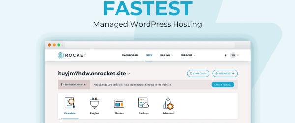 Rocket WordPress Hosting