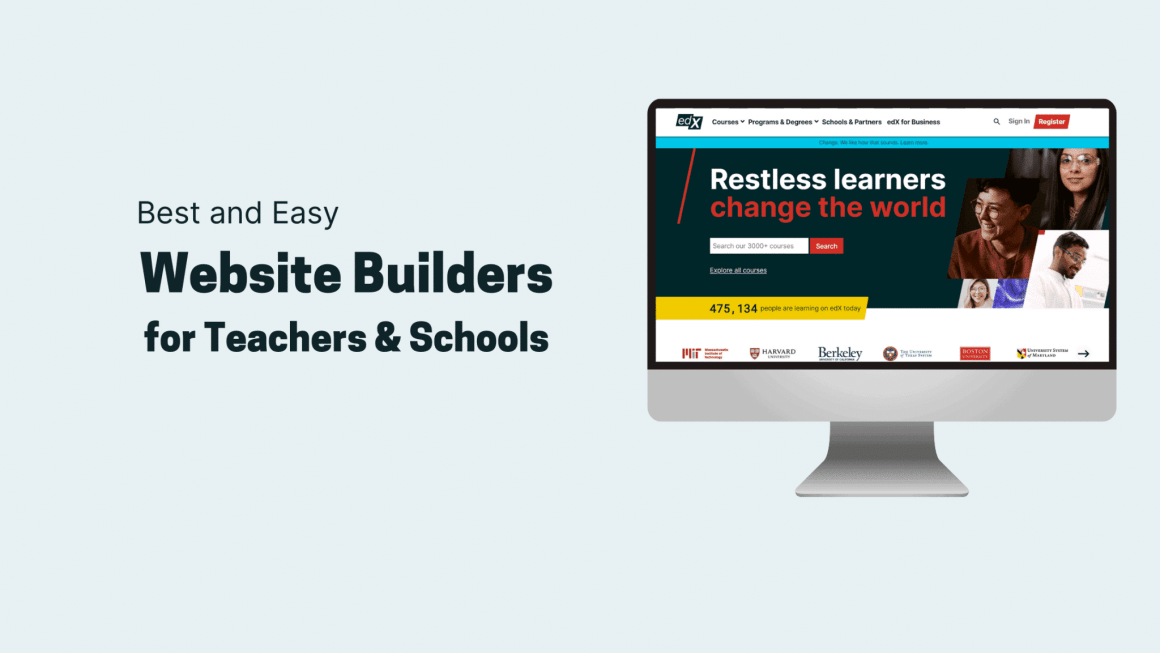 Website Builders for Teachers & Schools Feat