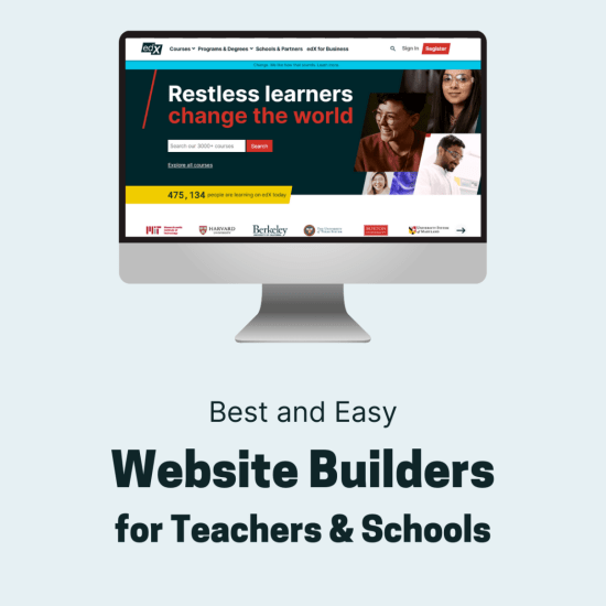 Website Builders for Teachers & Schools
