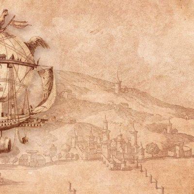 hot air balloon, airship, ride