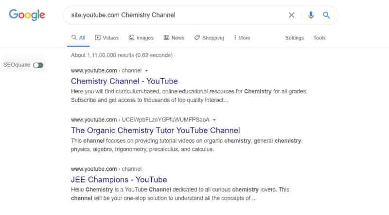 chemistry channels