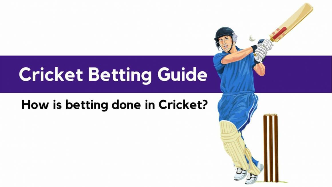 Cricket betting guide banner — a cricketer hitting a ball.