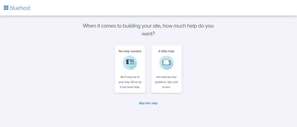 Create a Business Website with Bluehost and WordPress Step 6