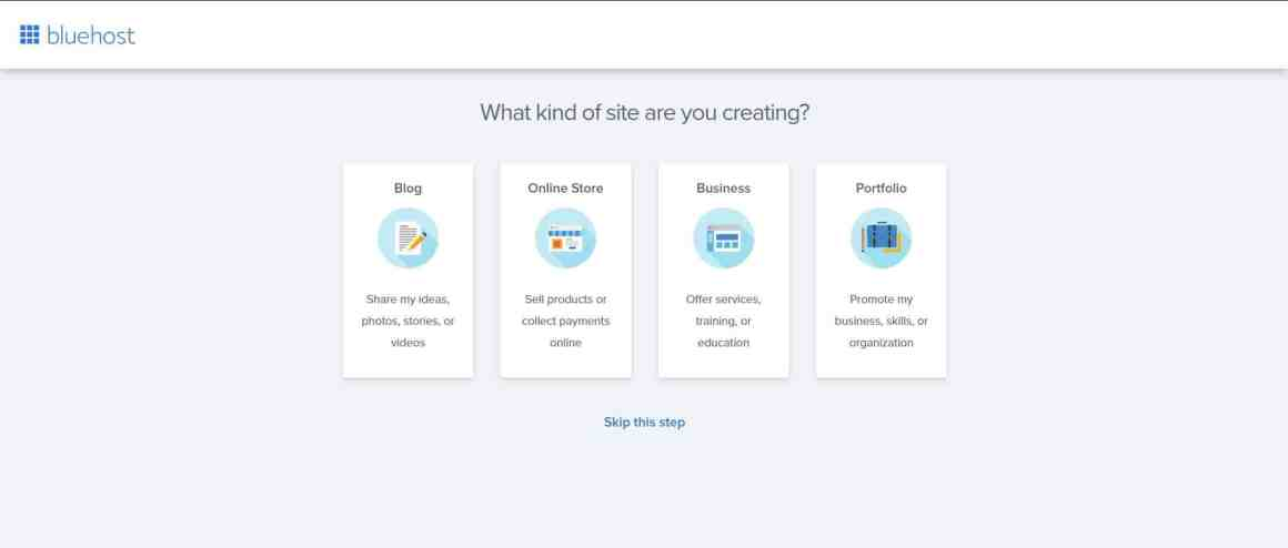 Create a Business Website with Bluehost and WordPress Step 7