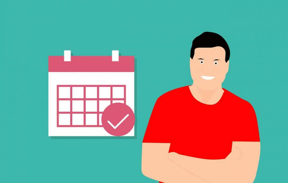 Calendar, mark, man, project deadlines