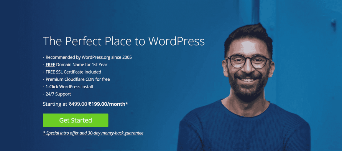 Create a Business Website with Bluehost and WordPress Step 1