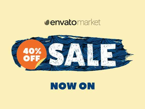Envato March Sale 2021 is here! Flat 40% off on Select Products