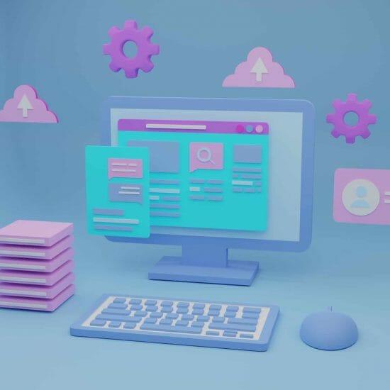 Software-web-development-3d-illustration
