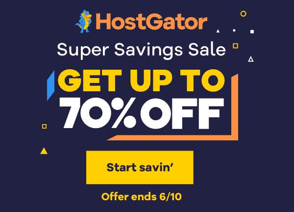 Hostgator super saving sale - hostgator coupon