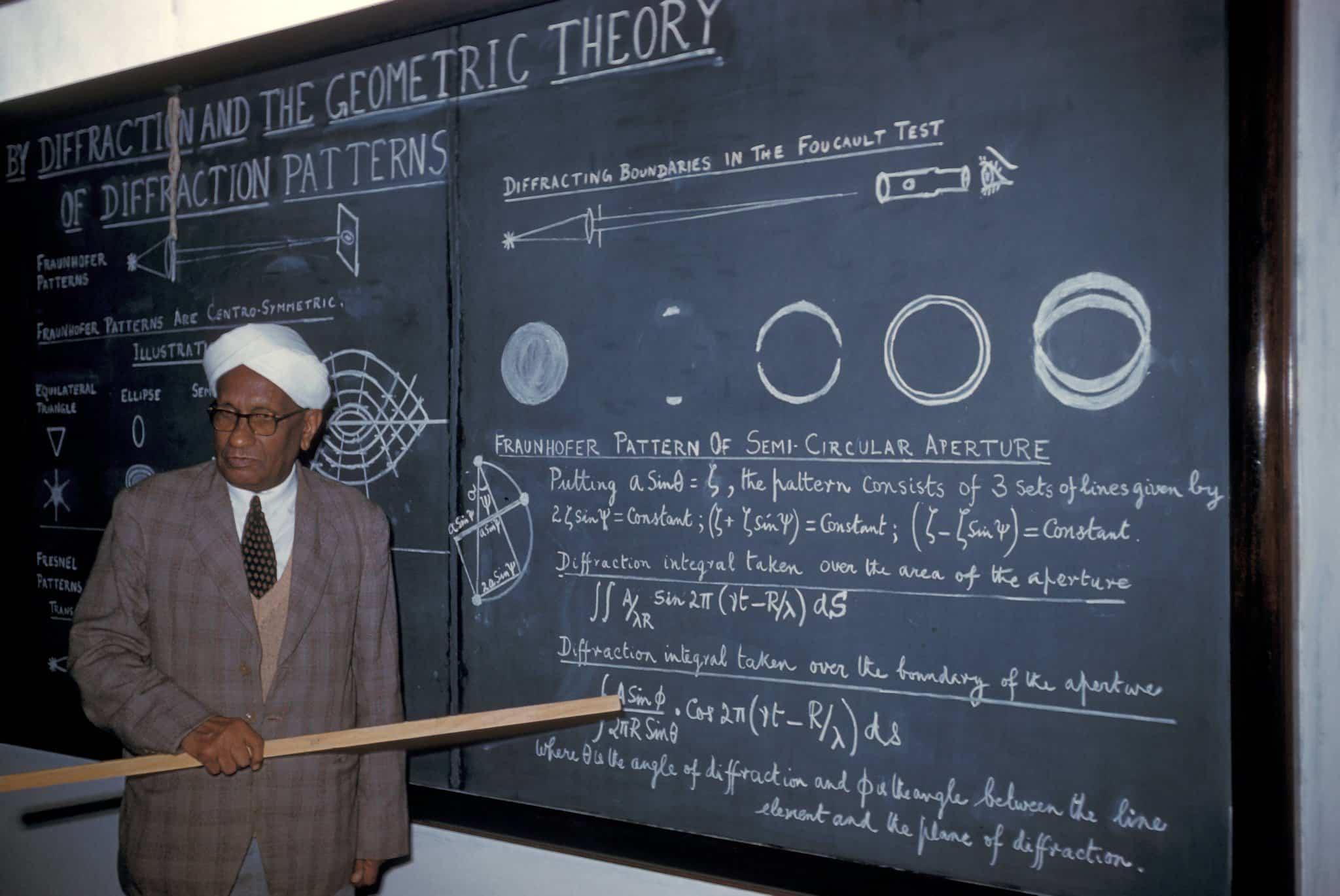 Cv raman teaching a class in 1960 photo